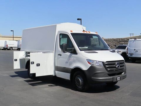 New 2019 Mercedes-Benz Sprinter 3500 Cab Chassis Knapheide KUV Body